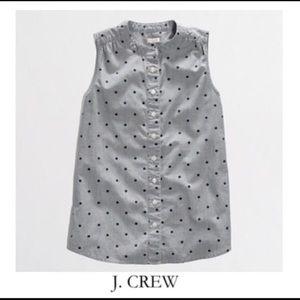 ✨ J. Crew Factory Women's Chambray Polka Dot Shirt